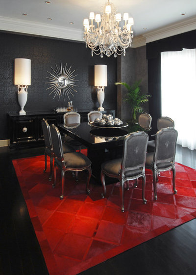 contemporary dining room by habachy designs - Rug Dining Room