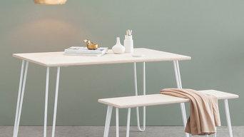 Hairpin Leg Dining Set, Made in Cornwall