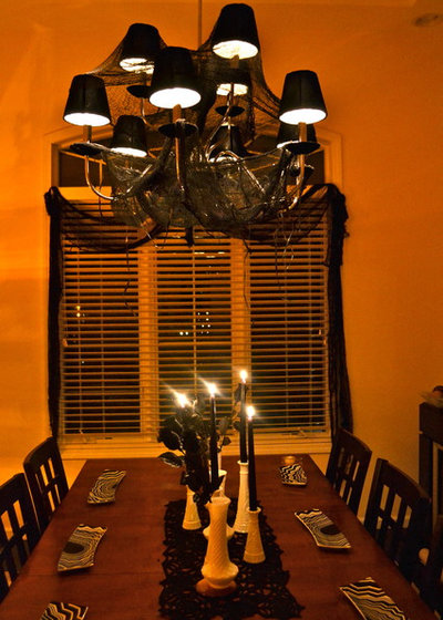 Contemporary Dining Room halloween decor