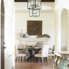 beach style dining room by Carter Kay Interiors