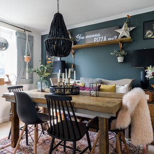 This is an example of a bohemian dining room in London.