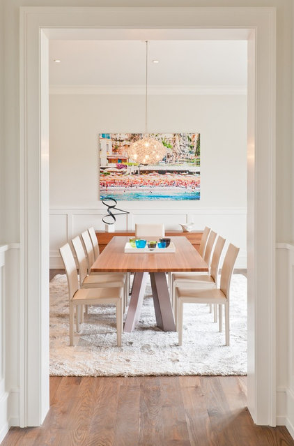 Modern Dining Room by M.S. Architecture