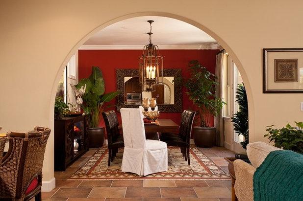 Mediterranean Dining Room by Studio V Interior Design