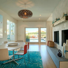 Beach Style Dining Room by David Howell Design