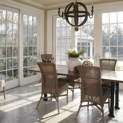 mediterranean dining room by interieurs By Francine Gardner