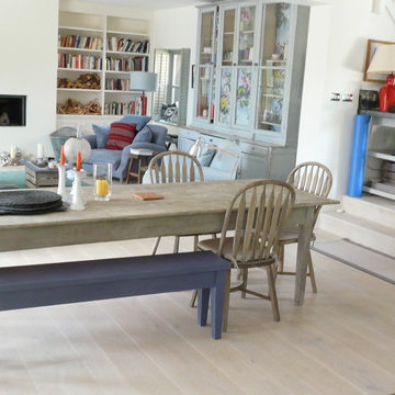Hamptons style white oak floors for a Sussex beach house