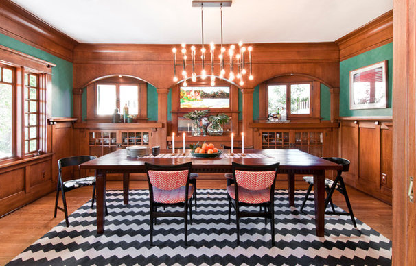 Eclectic Dining Room by Taylor Jacobson Interior Design
