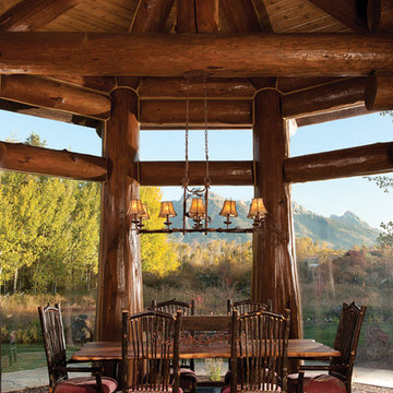 Handcrafted Log Home: The Jackson Hole Residence - Formal Dining Room