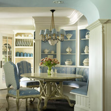 traditional dining room by Oak Hill Architects
