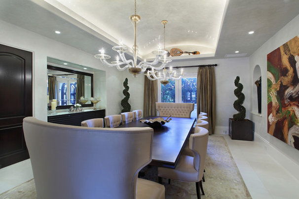 Contemporary Dining Room by W.A. Bentz Construction, Inc.