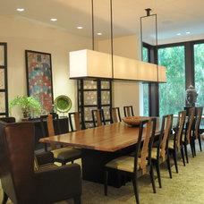 Tropical Dining Room by B Pila Design Studio