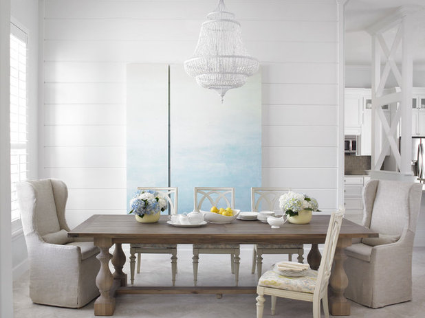 Transitional Dining Room by Krista + Home