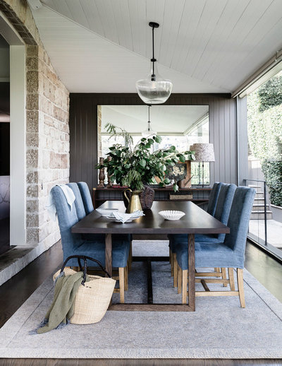 Traditional Dining Room by Lisa Burdus Interior Design