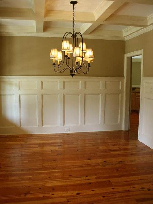 Exceptional Wainscoting Ideas For Dining Room Part - 7: Enclosed Dining Room - Large Traditional Medium Tone Wood Floor Enclosed Dining  Room Idea In Atlanta