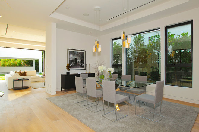 Contemporary Dining Room by Light In Art