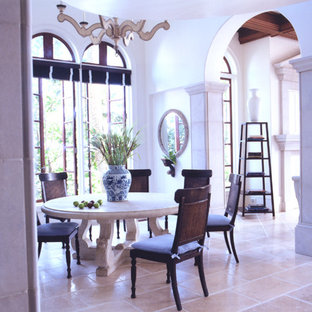Design ideas for a mediterranean dining room in Other.