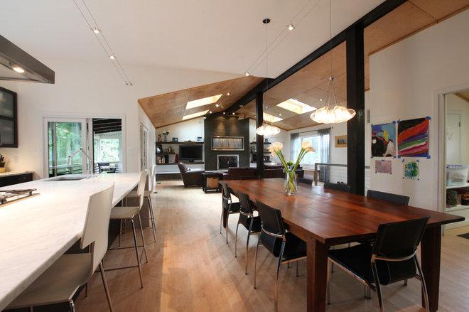 Contemporary Dining Room by Sagatov Design-Build