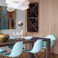 Midcentury Dining Room by JGB Custom Homes