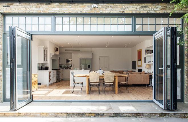 Transitional Kitchen by Cayford Architecture Ltd