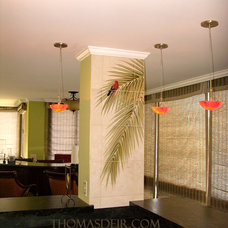 Tropical Dining Room by Thomas Deir Studios