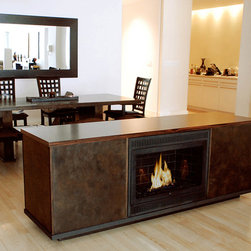 Hearth Cabinet Ventless Fireplaces - Hearth Cabinet Ventless Fireplace - Large Traditional Black - Pricing available upon request - 212.242.1485