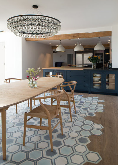 Contemporary Dining Room by Bridget Reading ID