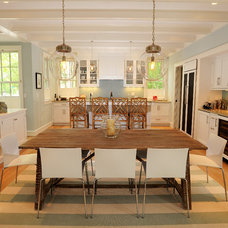 Beach Style Dining Room by Burton Builders