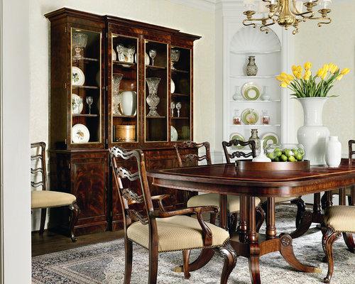 Elegant Elegant Dark Wood Floor Dining Room Photo In DC Metro