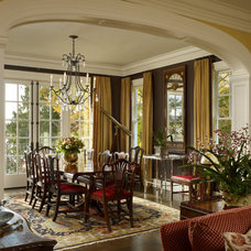 Traditional Dining Room by Charter Construction