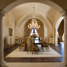 Mediterranean Dining Room by Priority 1 Project Management
