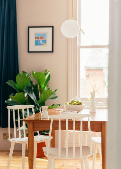 Scandinavian Dining Room by Trim Decorating