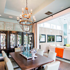 Tropical Dining Room by Glenn Layton Homes