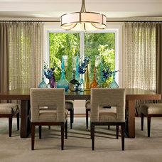 Transitional Dining Room by Deborah Wecselman Design, Inc