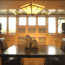Contemporary Dining Room by Kaufman Construction Design and Build