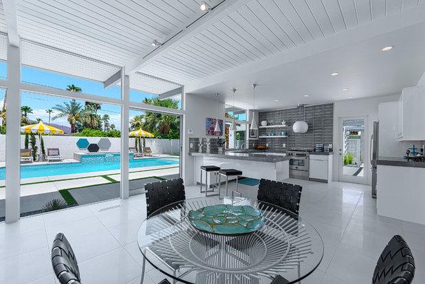 Midcentury Dining Room by H3K Design
