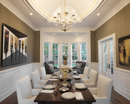 Example Of A Classic Dark Wood Floor Enclosed Dining Room Design In Los  Angeles With Brown Part 2