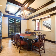 Mediterranean Dining Room by Las Casitas Architecture and Interiors, LLC
