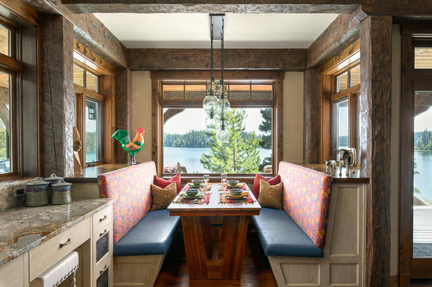 Rustic Dining Room by Kevin Gray Interiors