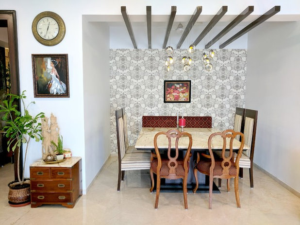 Eclectic Dining Room by Ariyona Interior