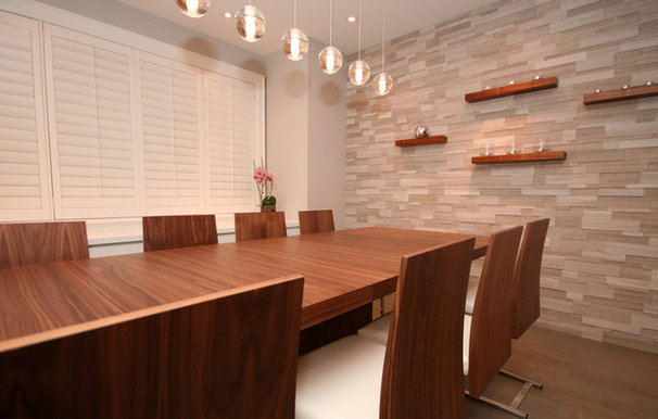 Contemporary Dining Room by oomph design inc.