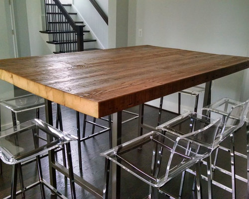 High Top Reclaimed Wood Communal Table
