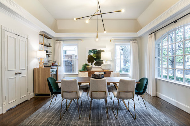 Transitional Dining Room by Urbanology Designs