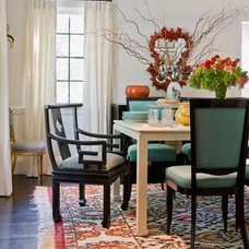 Eclectic Dining Room by Jill Litner Kaplan Interiors
