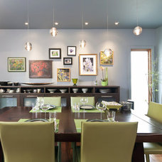 Eclectic Dining Room by Shelterbelt Architecture