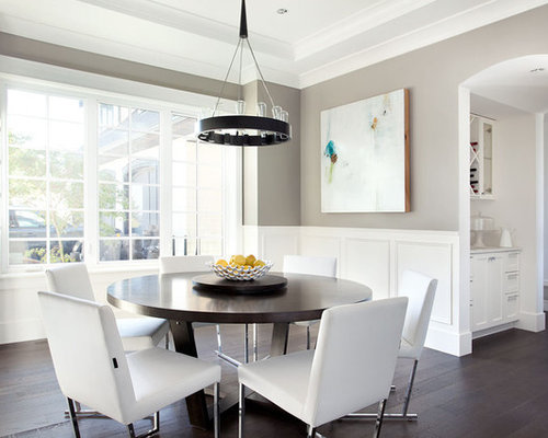 Modern wainscoting houzz for Dining room wainscoting