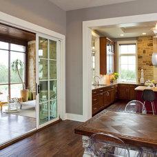 Eclectic Dining Room by Vanguard Studio Inc.