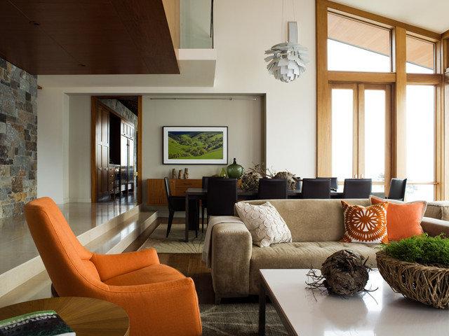 Rustic Dining Room by Sutton Suzuki Architects