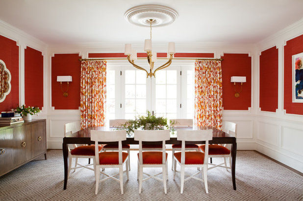Transitional Dining Room by Christy Allen Designs