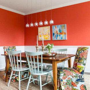 Immagine di una sala da pranzo chic