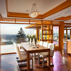 Dining Room by Don Stuart Architect Inc
